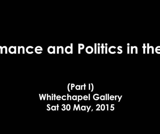 LADA Presents: Performance and Politics in the 1970s (part i)